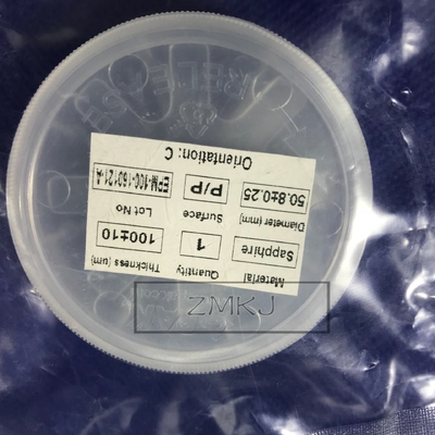 Single Crystal Ultra Thin Sapphire Wafer, Sapphire Substrate 2 Inch 0.1mm Grubość