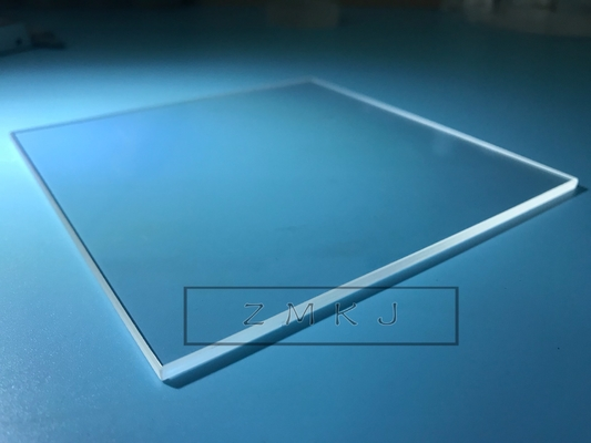 Chiny 116x116mm Square Sapphire Optical Windows, Sapphire Crystal Glass 8mm Grubość dystrybutor